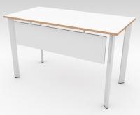 Стол офисный с экраном БИС Белый 1200x600 фанера