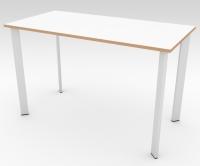 Стол офисный БИС Белый 1200x600 фанера