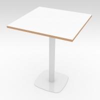 Стол барный NORA Белый 600x600 фанера
