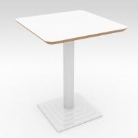 Стол барный ROMA Белый 600x600 фанера