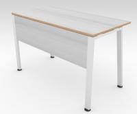Стол офисный TRAPECIO Белый Пепел 1200x600 фанера