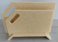 Набор досок кухонных акриловый камень с подставкой