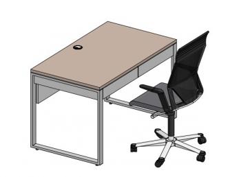 Стол офисный на опорах QBox