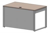 Стол офисный на опорах QBox передняя панель до пола