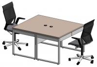 Стол офисный двойной на опорах QBox